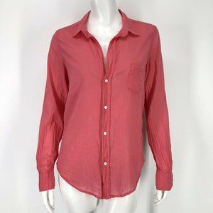 Frank & Eileen Barry Pink Shirt Top Small